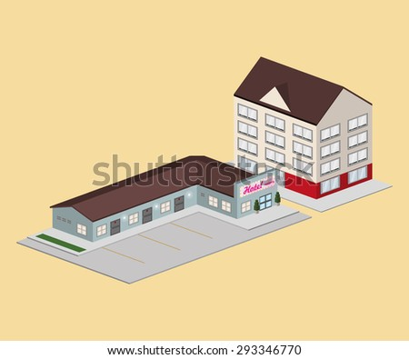 Hotel digital design, vector illustration eps 10.