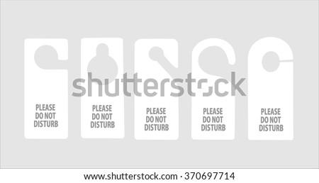 hotel do not disturb door hanger - stock vector