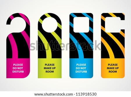 hotel do not disturb door hanger with special design - stock vector