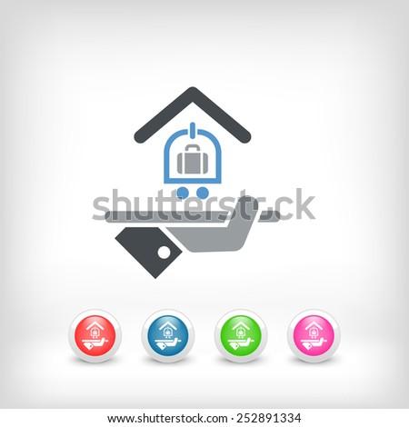 Hotel icon. Baggage service. - stock vector