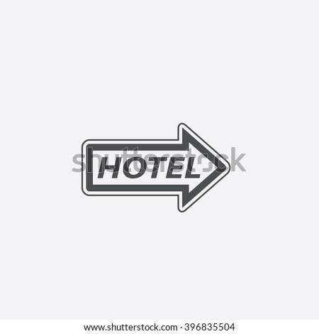 Hotel Icon Vector.  - stock vector