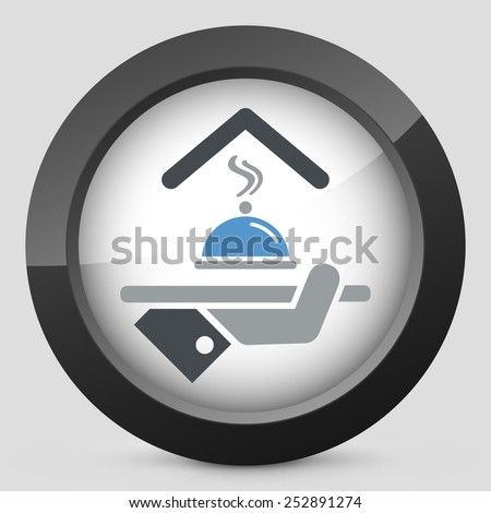Hotel icons. Restaurant service. - stock vector