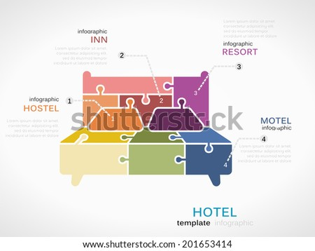 Hotel infographics - stock vector