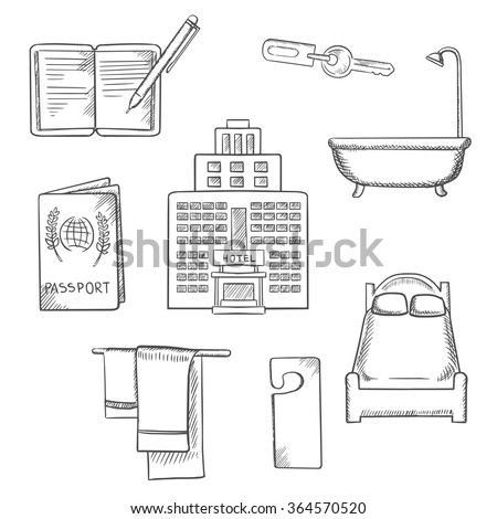 Bathroom Key Sign bathroom sketch stock images, royalty-free images & vectors