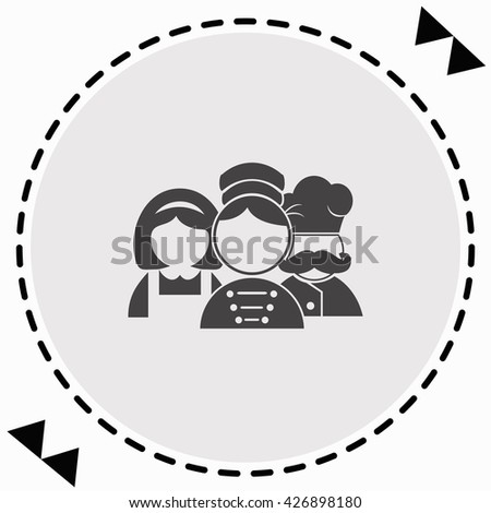 Hotel Staff Icon Flat Design Isolated Illustration