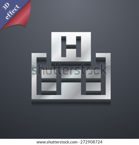 Hotkey  icon symbol. 3D style. Trendy, modern design with space for your text Vector illustration - stock vector