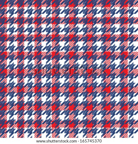 Hounds-tooth seamless pattern - stock vector