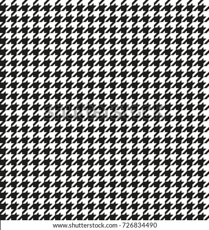 Hounds-tooth seamless vector pattern. Geometric print in black and white color .  Classical English background Glen plaid (Glenurquhart check) for fashion design.