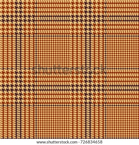 Hounds-tooth seamless vector pattern. Geometric print in brown and beige color .  Classical English background Glen plaid (Glenurquhart check) for fashion design.
