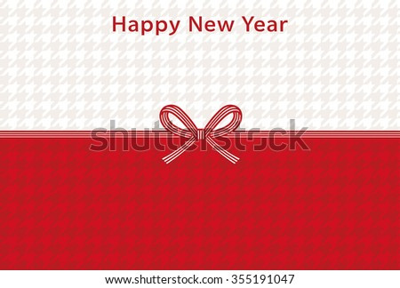 houndstooth new year card