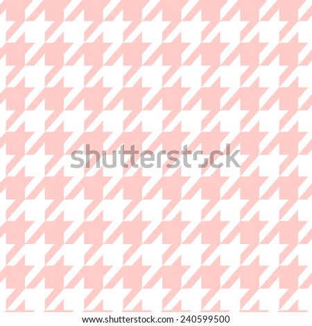 Houndstooth seamless pastel pattern. Fabric background. Vector. - stock vector