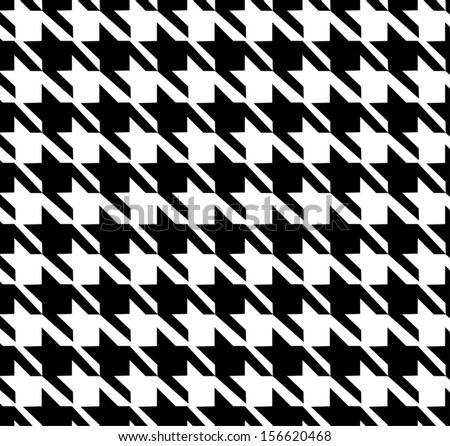 Houndstooth Seamless Pattern - stock vector