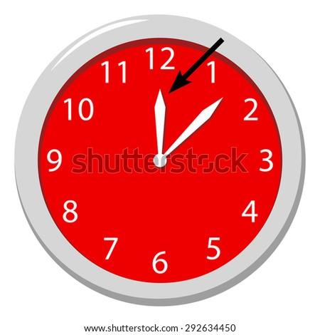 Hour - stock vector