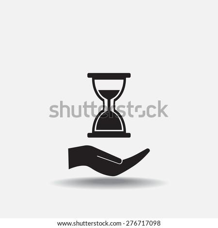 hour glass vector icon - stock vector