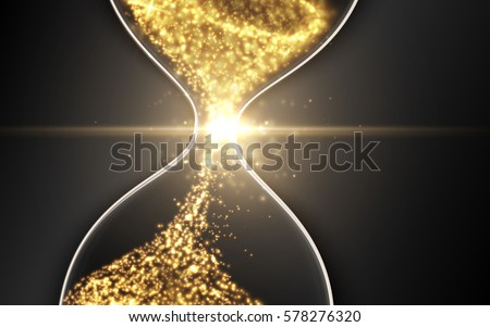 Hourglass Abstract Magic Sand Clock Wallpaper Vector Illustration