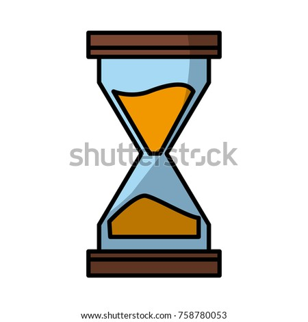 Hourglass antique timer icon vector illustration graphic design