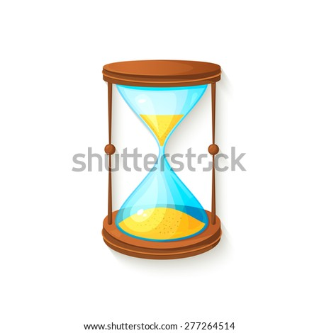 Hourglass 3d icon, beautiful realisric vector illusrtation - stock vector