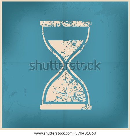 Hourglass design on old paper background,vector