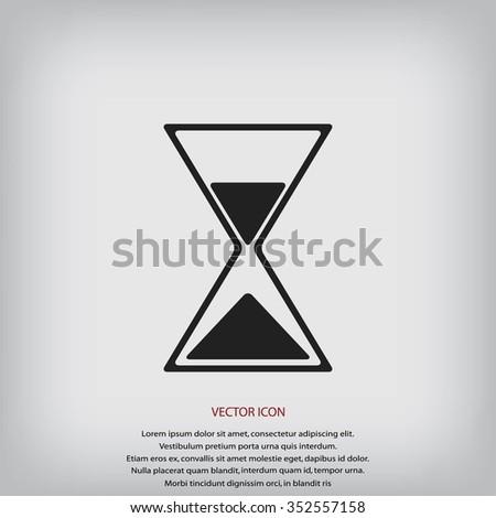 hourglass icon - stock vector