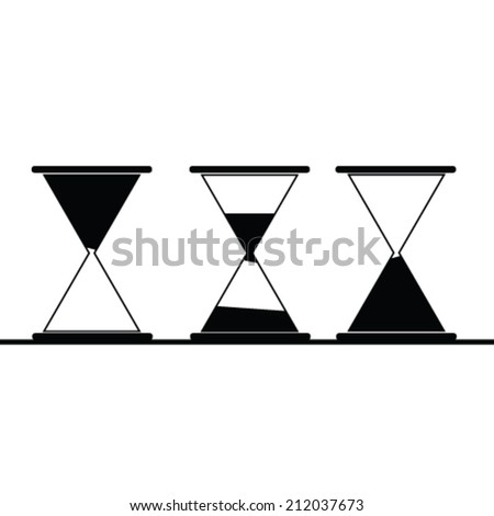 hourglass icon art vector illustration in black