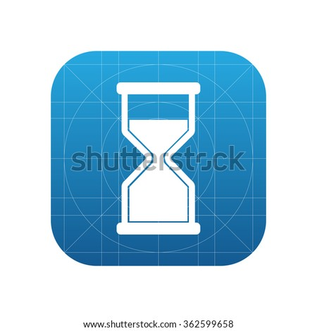 Hourglass icon for web and mobile