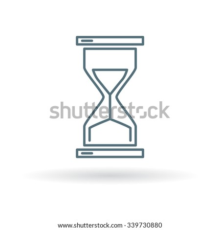 Hourglass icon. Hourglass sign. Hourglass symbol. Thin line icon on white background. Vector illustration. - stock vector