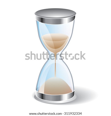 Hourglass icon isolated on white background. Sand clock icon 3d illustration. - stock vector
