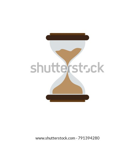 Hourglass icon isolated vector illustration on white transparent background