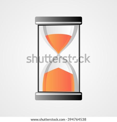 Hourglass icon vector - stock vector