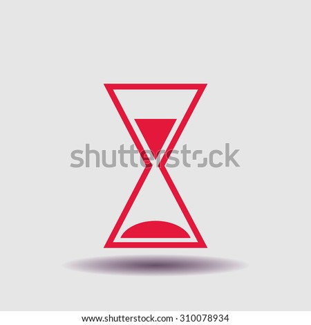 hourglass icon, vector illustration. Flat design style - stock vector