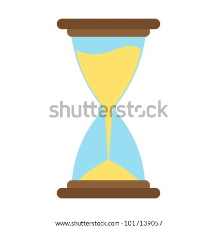 Hourglass icon vector time sand hour clock glass design illustration. Timer concept minute countdown graphic flat isolated