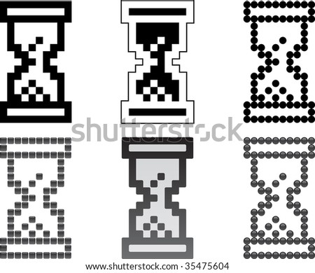 Hourglass icons - stock vector