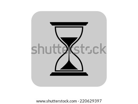 Hourglass icons on white background