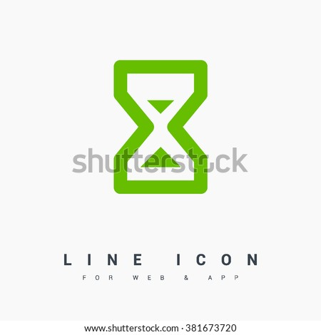 Hourglass isolated minimal single flat icon. Time line vector icon for websites and mobile minimalist flat design. - stock vector
