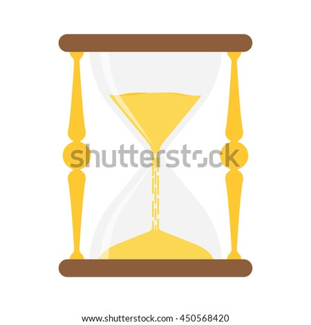 hourglass isolated on white background. Vector flat design illustration