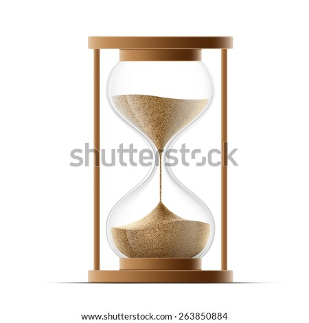 hourglass isolated on white background. Vector image. - stock vector