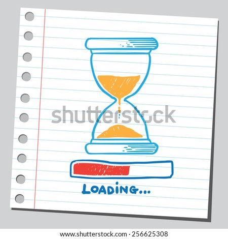 Hourglass loading (time concept) - stock vector