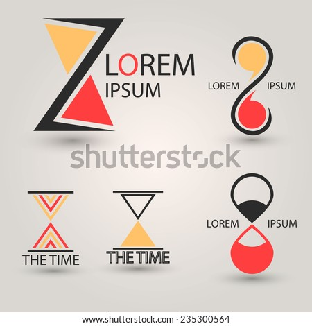 Hourglass Logo - stock vector