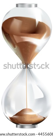 Hourglass, mesh - stock vector