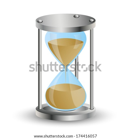hourglass on a white background,  vector  illustration