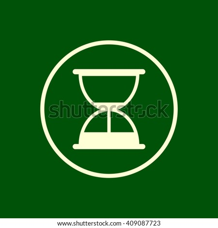 hourglass, sand clock icon. vector eps10 icon