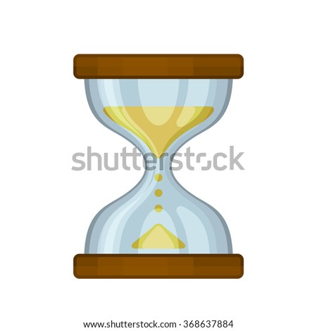 Hourglass Sand Clock on White Background. Vector - stock vector