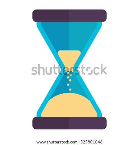 hourglass sand timer sand clock colorful stock vector royalty free