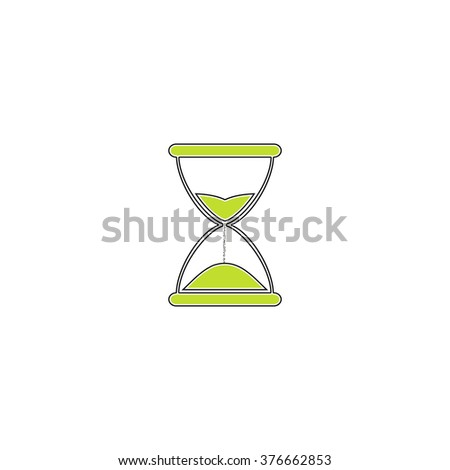 hourglass simple flat icon