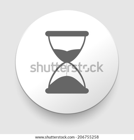 Hourglass time icon isolated on white background. EPS10 illustration