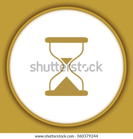 Hourglass time icon isolated vector