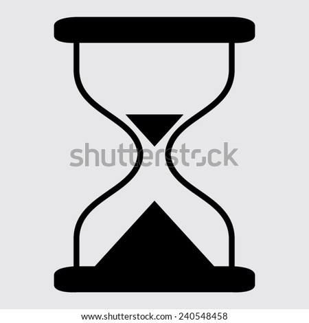 Hourglass time icon isolated vector on a grey background