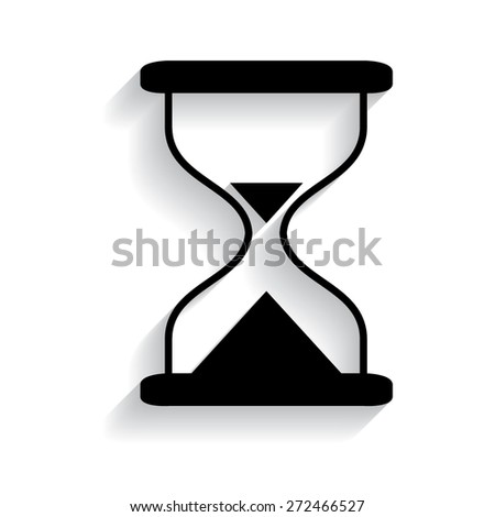 Hourglass time icon isolated vector with shadow