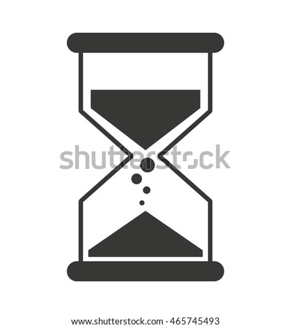 hourglass time sand icon vector isolated design
