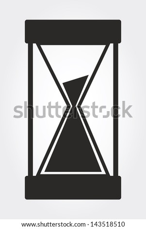 hourglass vector - stock vector